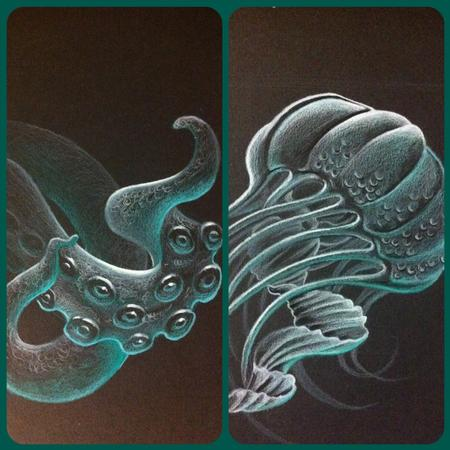 Kelly Green - jellyfish and tentacles