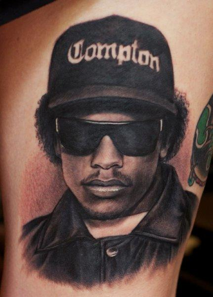 Tattoos - Eazy E Portrait Tattoo - 57265