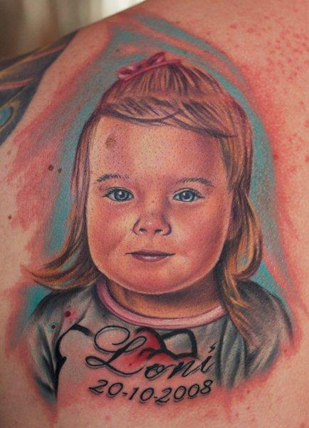 Tattoos - Full Color Baby Portrait - 57266