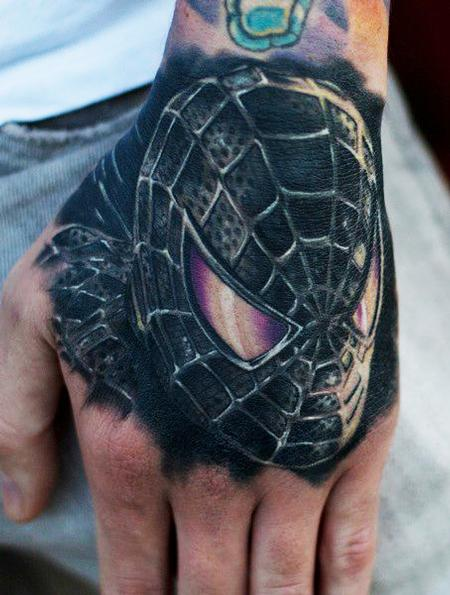 Tattoos - Spiderman Hand Tattoo - 57259