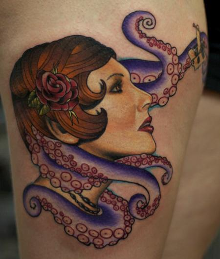 Tattoos - Pinup Girl Tattoo - 57260