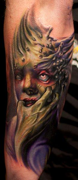 Tattoos - Evil Alien Tattoo - 57262