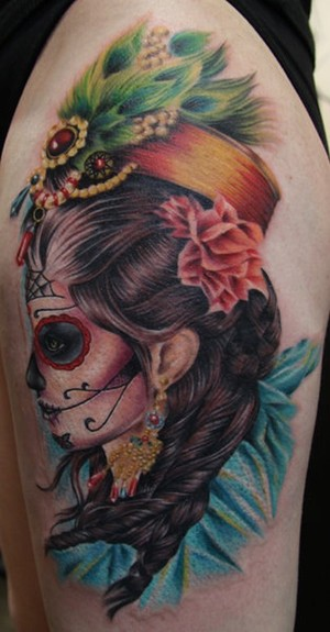 Tattoos - Day of the dead girl - 50813