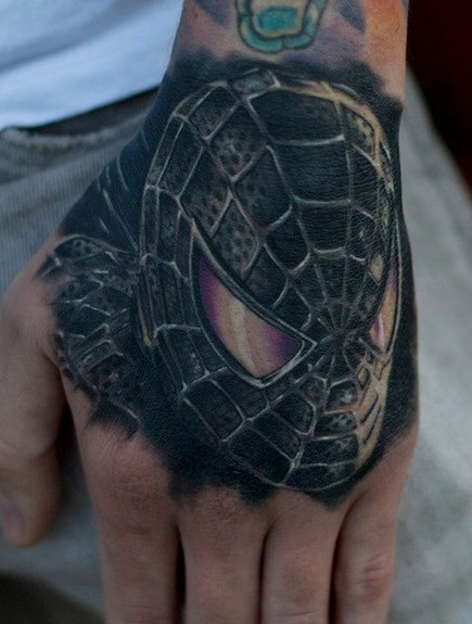 Tattoos - Spiderman hand tattoo - 50811