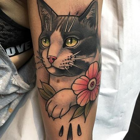 Tattoos - Cat portrait  - 133083