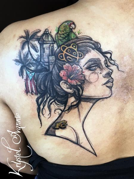 Tattoos - Puerto Rico on her mind - 140366