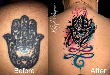 Tattoos - Hamsa (cover-up and fixer upper) - 140386