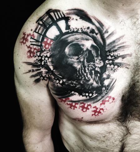 Tattoos - skull - 100666