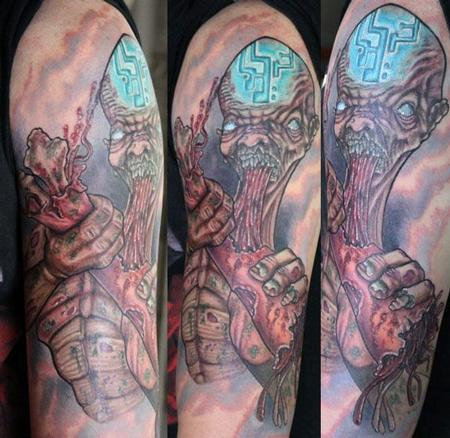 Tattoos - Zombie half sleeve - 66837