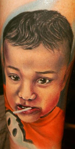 Tattoos - Portrait of son - 66774