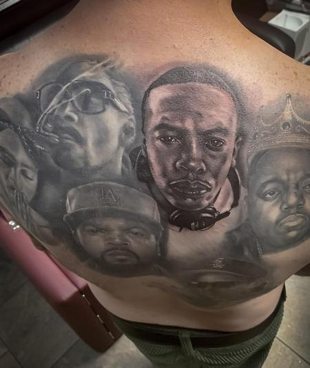 Tattoos - Legends of Hip Hop Backpiece Tattoo - 137663