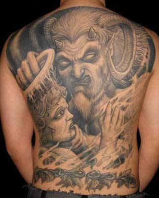 Tattoos - Devil vs Angel - 33760