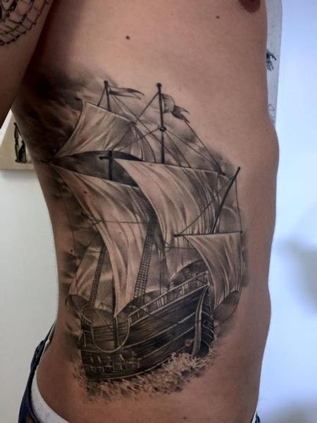 Tattoos - Sailing ship - 108073