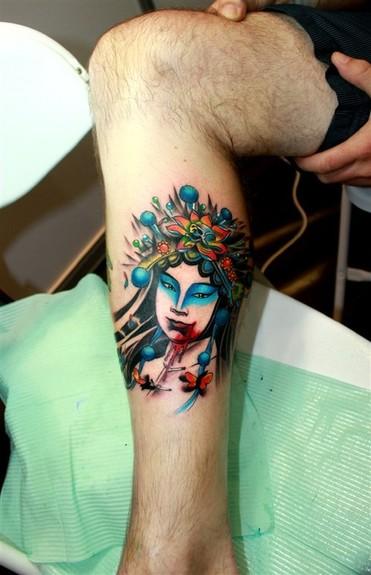 Tattoos - Custom asian lady - 49574