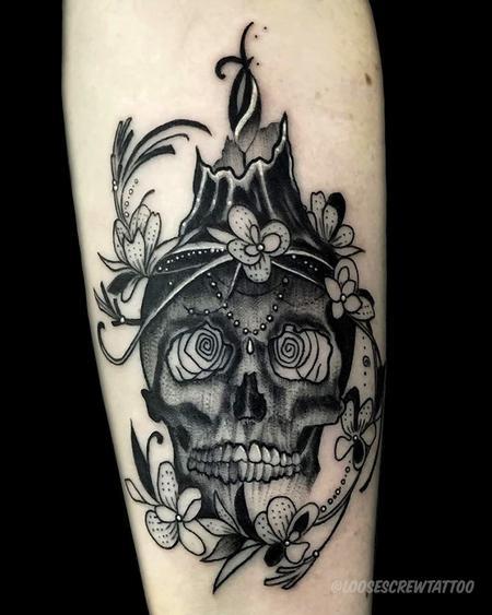 Tattoos - Candlelit Skull - 142026