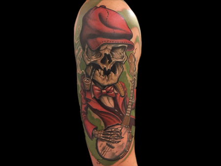 Tattoos - Banjo Skull - 140678