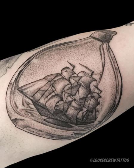 Tattoos - Ship in a Bottle - 142351