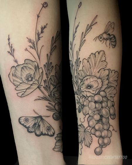 Tattoos - Vineyard Bouquet - 142248