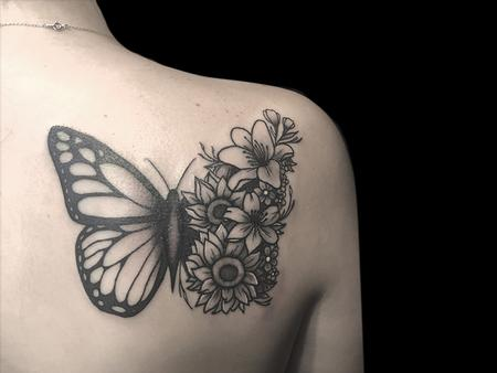 Tattoos - Floral Butterfly - 140715