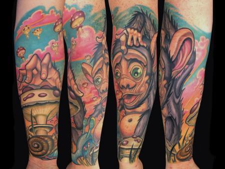 Tattoos - Monkey Sleeve - 140730