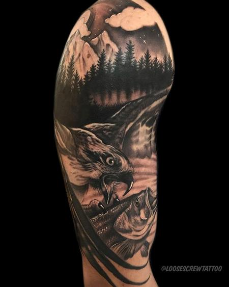 Tattoos - Hawk Gone Fishing - 142208