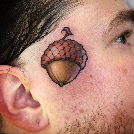 Acorn Tattoo Design Thumbnail