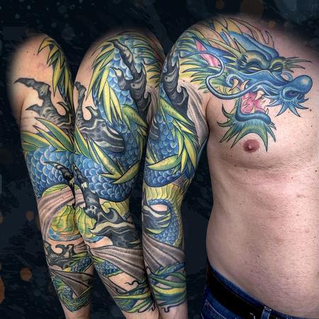 Tattoos - Blue Dragon - 142534