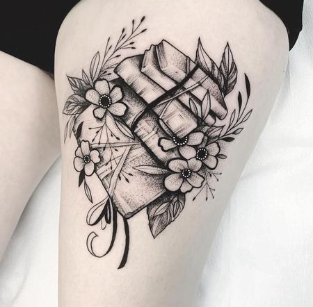 Tattoos - Books & Flowers - 142512