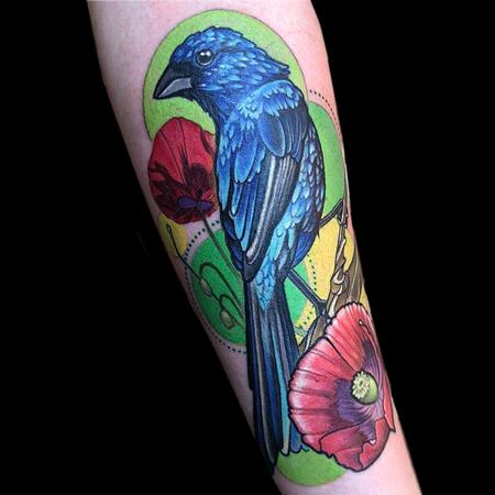Tattoos - Indigo Bunting - 141474