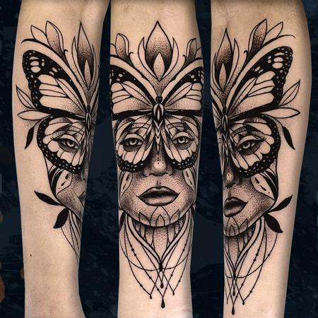 Tattoos - Butterfly Lady - 142698