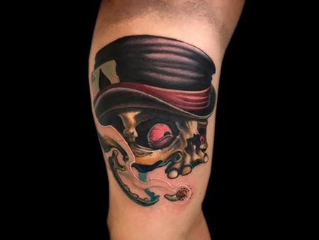 Tattoos - Smoking Skull - 140699