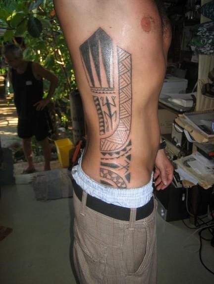Tattoos - Traditional blackwork side tattoo - 49754