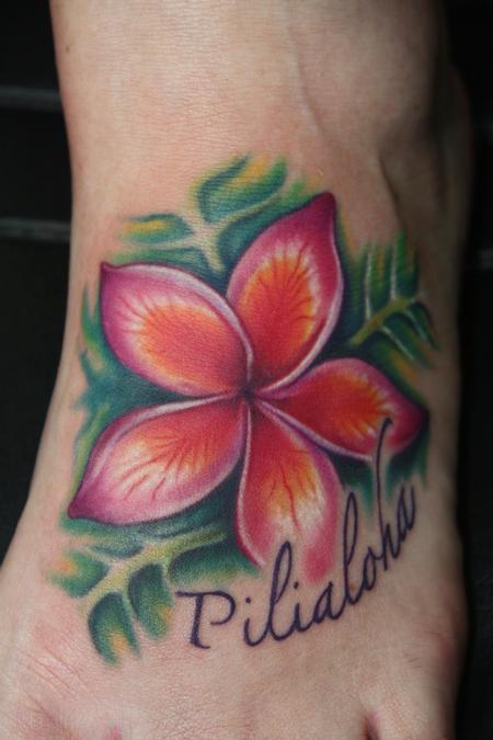 Tattoos - Plumeria Tattoo - 59647
