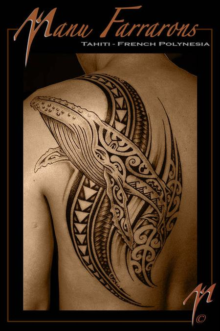 Tattoos - Tribal Whale - 68965