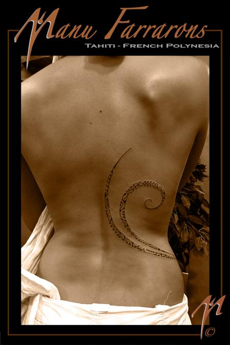 Tattoos - Thin feminine flow of patterns - 69032