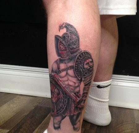 Tattoos - Warrior Leg Piece - 141407