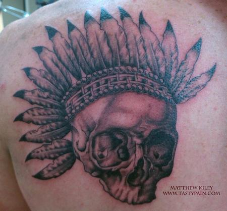 Tattoos - skull and headress - 91920