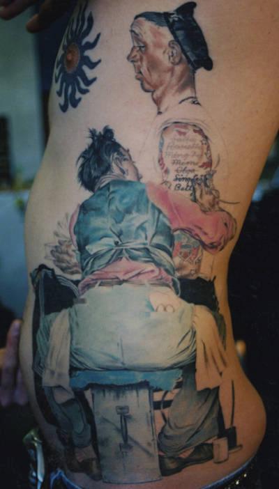 Tattoos - Norman Rockwell Tattoo - 55248