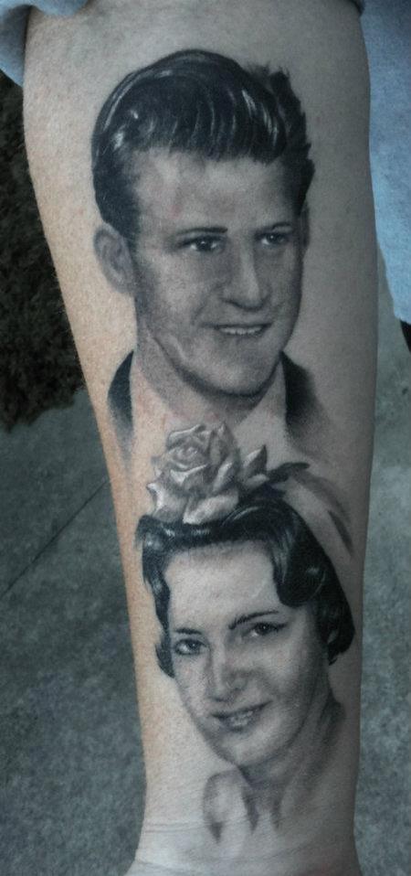 Tattoos - Photo Realistic Black and Gray Tattoo - 67642