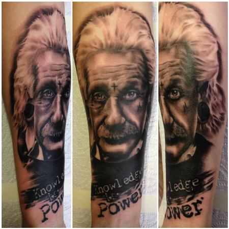 Dean Lawton - Albert Einstein Tattoo