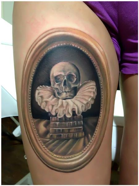 Tattoos - Classic Skull Tattoo - 75566