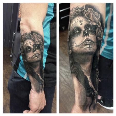 Tattoos - Sugar Skull Pinup - 75559
