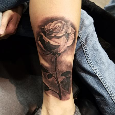 Tattoos - single rose - 123784