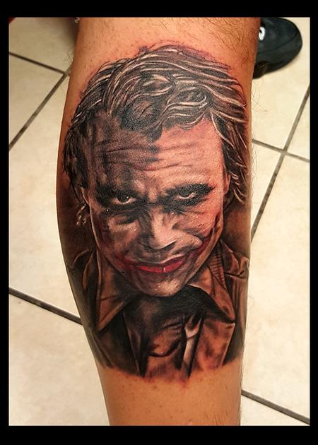 Mike Christie - Joker Portrait Tattoo
