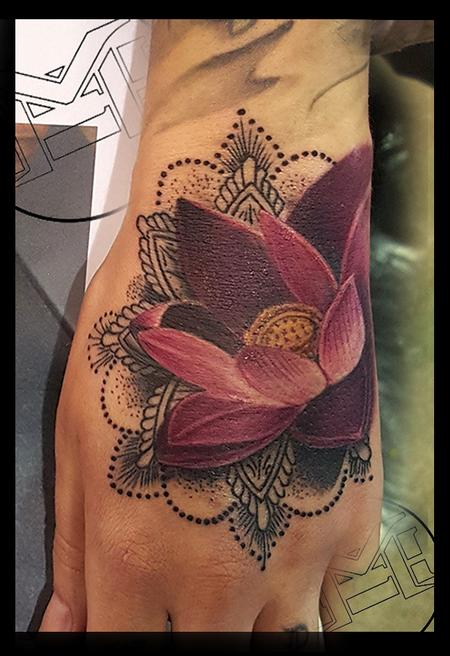 Tattoos - lotus and blackwork - 115478