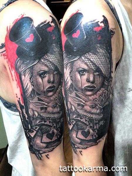 Tattoos - ALice in wonderland trash-polka - 95185
