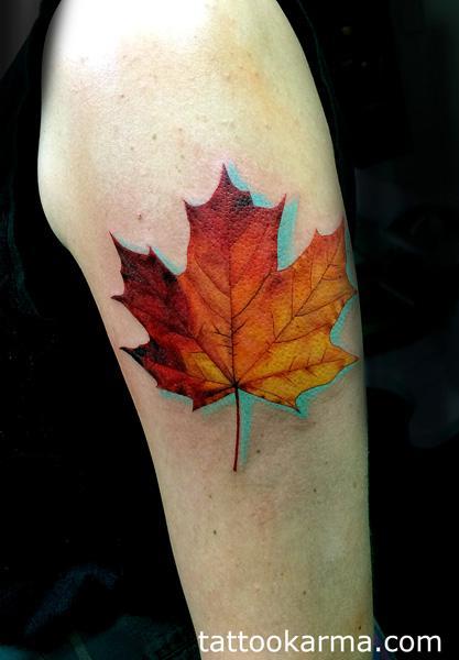 Tattoos - Maple leaf - 98780