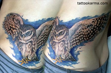 Tattoos - owl tattoo - 104298