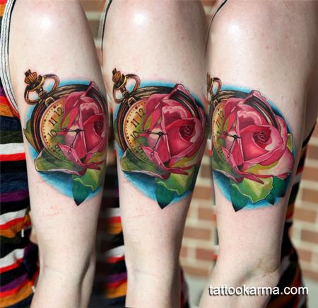 Tattoos - Rose pocket watch - 101136