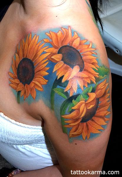 Tattoos - sunflowers - 99200